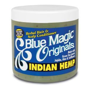[BLUE MAGIC] INDIAN ORGANICS INDIAN HEMP HERBAL HAIR & SCALP CONDITIONER 12OZ