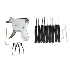 SET DIY STRONG GUN LOCKSMITH OPENER BUMP PICKING + SET 10 KEY LOCK PICK + GUIDES