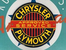 top quality CHRYSLER PLYMOUTH porcelain coated 18 GAUGE steel SIGN