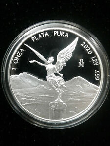 2020 1 oz .999 Fine Silver Mexican Libertad Proof-- Low mintage of only 5850!!
