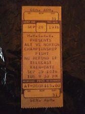 Boxing Muhammad Ali Ken Norton Iii Cctv Ticket Stub Sept. 28, 1976