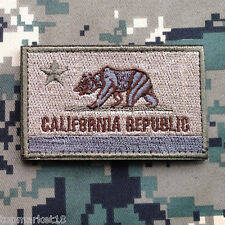CALIFORNIA STATE FLAG REPUBLIC US MILITARY MORALE TACTICAL DESERT OPS HOOK PATCH