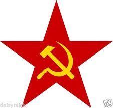 Martillo Y Hoz Estrella Roja Bandera símbolo el comunismo soviético ruso 5x5 pulgadas impresión