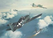 """Marianas Turkey Shoot"" Roy Grinnell Print signed by WW II Ace Lt. Alex Vraciu"