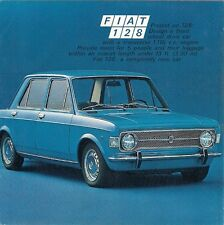 Fiat 128 1100 Saloon 1970-71 UK Market Launch Foldout Sales Brochure
