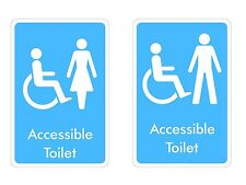 Disabled Toilet Signs Sticker Decal Graphic Accessible  Male Female l Labels V4