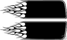 Custom FLAMES HOOD STRIPES - fits CARS TRUCKS SUVS - MANY COLOR TO PICK FROM