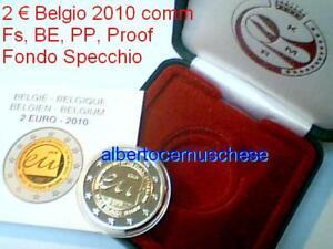 2 euro 2010 BE PP Fs proof BELGIO EU UE Belgique Belgien Belgium België Bélgica