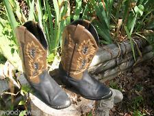 Boots Black Leather 4 half B width Vintage Rockabilly 4.5
