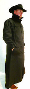 WESTERN COWBOY RANGER DUSTER  COAT  QUILT or Nylon  LINED