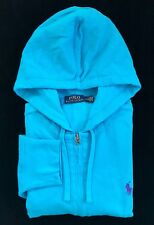 Polo Ralph Lauren Men's Full Zip Mesh Hoodie Sweatshirt Jacket Pony Logo Sz: Med
