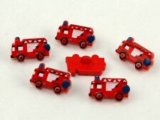 Fire Engine Shape Novelty Buttons - per pack of 3 (Dill-251443(3))