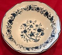 "Hankook Seine Blue 9"" Scalloped Vegetable Pasta Bowls Set of 6 EUC"