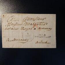 FRANCE MARQUE POSTALE LETTRE COVER P2P LE CATELET 1829