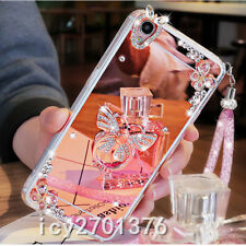 Luxury Bling Diamond Crystal Ring Holder stand Mirror Phone Case Cover strap S1