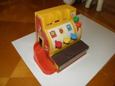 Vintage 1970's Fisher Price Play Cash Register #926 Still Works Only 1 Coin