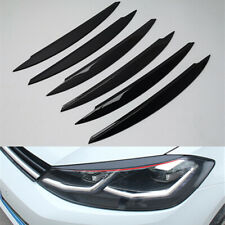 ABS Headlight Lamp Eyebrow Eyelid Strip For VW GOLF 7.5 MK7 TDI 2018 Facelift