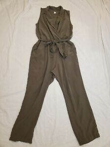GAP Olive Green Belted Sleeveless Romper Jumpsuit Size XL ~ EUC