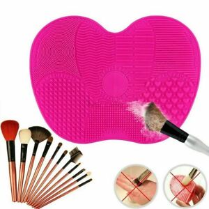 Red-Silicone Makeup Brush Cleaner Pad Washing Scrubber Board Cleaning Mat Tool