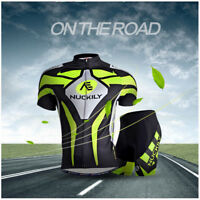 SALES Herren Atmungsaktiv Sport Shirts Fahrradtrikot & Radlerhose Kurzarm Gr.XL