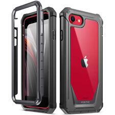 IPhone SE (2020) , iPhone 7/8 caso cubierta protectora a prueba de impactos Híbrida , poética Negro