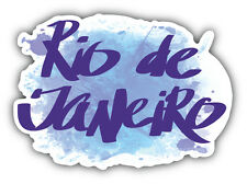 Rio De Janierio Brazil Grunge Slogan Car Bumper Sticker Decal 5'' x 5''