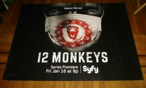 12 MONKEYS SYFY NETWORK channel 5FT SUBWAY POSTER RARE 2014