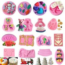 Silicone 3D Fondant Mould Cake Mold Chocolate Baking Sugarcraft Decorating Tools