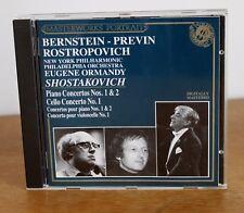 SHOSTAKOVICH concertos   – Bernstein Previn Rostropovich Ormandy – 417 720-2