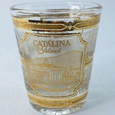 Culver 22K Gold Trim Souvenir Shotglass Catalina Island California