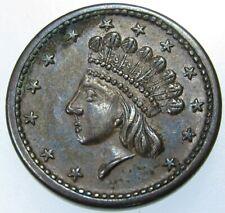 Civil War Token Patriotic 1864 Indian Princess/Union Forever Shield Fuld 51/342