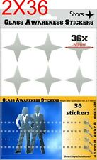 72 STARS Glass Awareness Stickers 50 mm Etched Effect Frosted Film Patio Doors