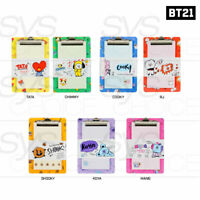 BTS BT21 Official Authentic Goods Clip Board Pad SET 155 x 250mm By Kumhong
