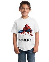 Spiderman Movie Personalised Children's T-Shirt Kids tshirt Including Name