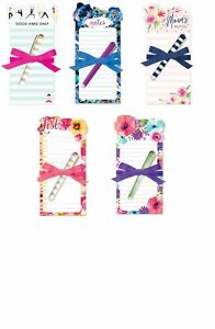 Punch Studio E8 Lady Jayne Die-Cut 4x8in Note Pad & Pen Set Choose Design