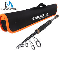 Maxcatch Travel Spinning Fishing Rods 6'8''/ 7'/ 8'/ 9' Telescopic Fishing Pole