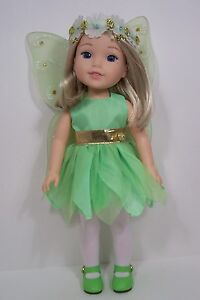 GREEN Tinkerbell Dress Undies Doll Clothes For AG 14 Wellie Wisher Wishers (Debs