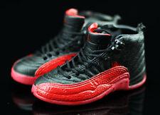 Air jordan XII 12 Retro Flu Game Red/Black Sneakers Shoes 3D Keychain Figure 1:6