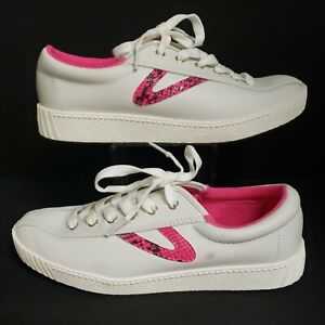 TRETORN Nylite 39 Plus Shoes Size 7.5 Sneakers 152 Fluo Pink Snake Madewell