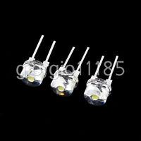 US Stock 50pcs New Straw Hat 8mm 0.5W White LED Light Emitting Diode