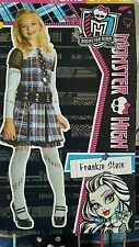 NEW Frankie Stein Dress Up Costume Monster High Doll Lg 10-12 Plaid School Girls