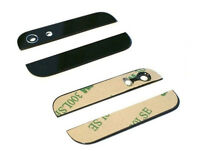 BLACK Back Rear Top/Bottom Glass with Camera & flash len  for Iphone 5 HOT