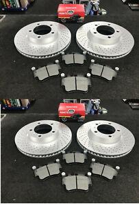 PORSCHE 911 BOXSTER 2.7 986 CAYMAN DRILLED BRAKE DISCS FRONT + REAR + PADS