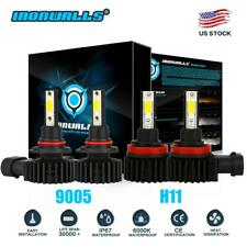 9005+H11 Combo LED Headlight High&Low Beam 6000K White 4400W 660000LM High Power