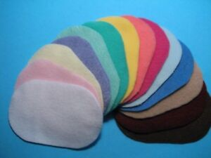 Dollhouse Miniature Wholesale Lot of 12 Oval fuzzy Rugs Asstd. Colors