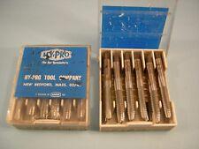 Qty 12 New HY-PRO 1/4-20 NC GH5 HSS Grd Thd 3 Flute SP PT Plug Taps Chrome Coat
