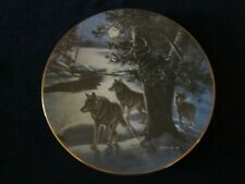 Wolf collector plate Legacy Timberwolves James Meger