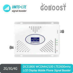 Signal Booster Tri Band DCS1800 WCDMA2100MHz LTE2600 B1/3/7 Cell Phone Repeater