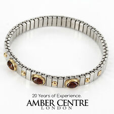 NOMINATION ITALIAN BRACELET WITH BALTIC AMBER in 18ct GOLD BAN131 RRP£245!!!