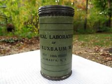 Medical Mail Tin Improved Mailing Case Co. New York Buxbaum MD FREE SHIPPING